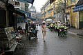 The streets of central Hanoi
