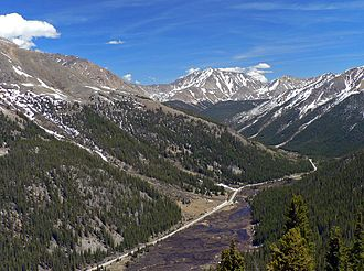 Colorado State Highway 82 - Highway 82 just east of Independence Pass