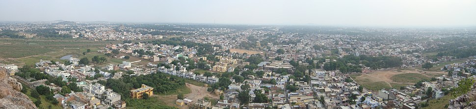 A view of Jhansi from the hill of Sipri)