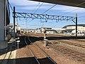 View of Karatsu Rail Yard from platform of Nishi-Karatsu Station.jpg