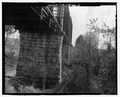 View of stone piers - Bridge No. 33.3, Spanning Elk River at Milepost JC-33.3, Fayetteville, Lincoln County, TN HAER TN-42-5.tif