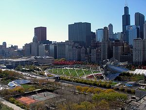 340 on the Park - The southwest view from 340 on the Park includes Millennium Park, Art Institute of Chicago, Historic Michigan Boulevard District and Chicago Loop.