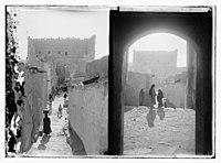 View of village street in Arabic fort built. Looking toward the Arabic fort through LOC matpc.09466.jpg
