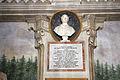 Villa la quiete, sala delle ville, busto di pio IX e lapide del 1857.JPG