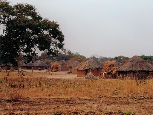 Village along Great East road - Zambia