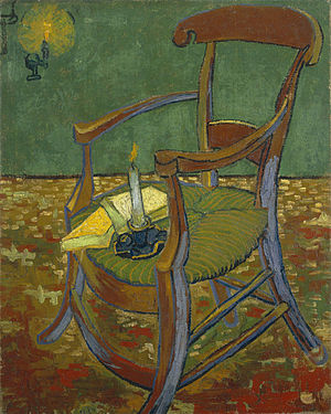 Jug in the Form of a Head, Self-Portrait - Vincent van Gogh, Paul Gauguin's Armchair, 1888