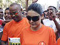 Vinod Kambli and his wife Andrea Kambli at Mumbai Marathon 2007 (7).jpg