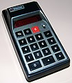 Vintage Bowmar Electronic Pocket Calculator, Model MX-50 (aka 90505), Red LED Display, Sealed Battery, Made In USA, Circa 1973 (14591513119).jpg