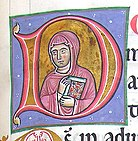 Detail from Matilda de Bailleul's illuminated psalter