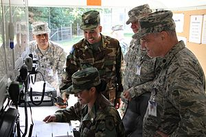 State defense force - Members of the Virginia Defense Force and the Virginia National Guard operate a mobile command post.