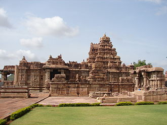 Chalukya dynasty - Virupaksha temple in Dravidian style at Pattadakal, built 740 CE