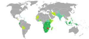 Visa requirements for Zimbabwean citizens - Image: Visa requirements for Zimbabwean citizens