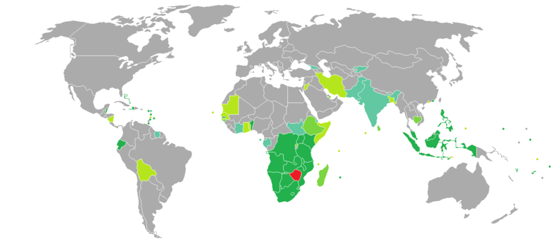 Visa requirements for zimbabwean citizens wikipedia visa requirements mapedit zimbabwe gumiabroncs Images