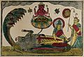 Vishnu reclining on the ocean with Brahma springing from a l Wellcome V0045007.jpg