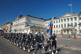 Foot guards - The Guard Jaeger Regiment is a Finnish Army unit that provides a guard of honour for the President of Finland.