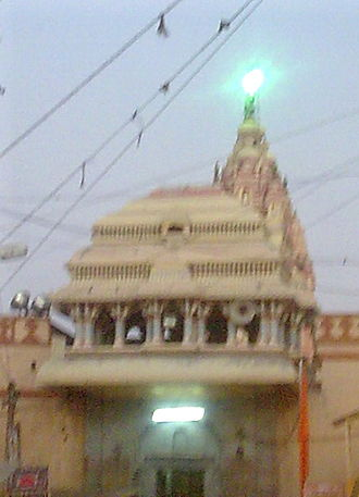 Vithoba - The shikhara of the Vithoba's chief temple at Pandharpur