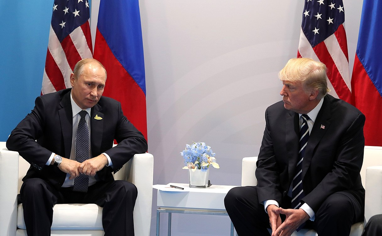 Vladimir Putin and Donald Trump at the 2017 G-20 Hamburg Summit (9).jpg