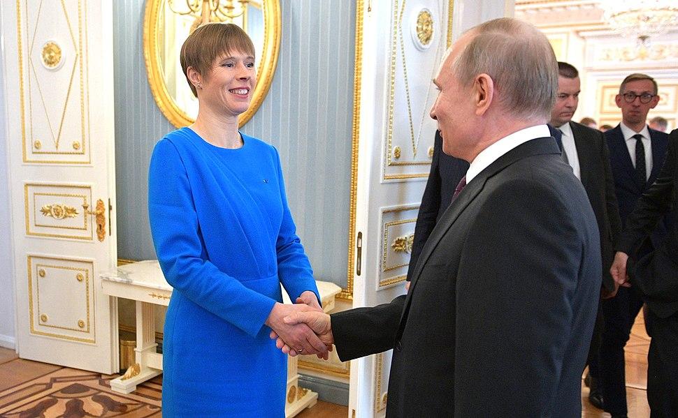 Vladimir Putin and Kersti Kaljulaid (2019-04-18) 08