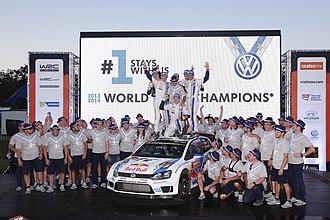 2014 Rally Australia - Volkswagen Motorsport celebrates Podium