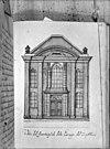 voorgevel naar tekening van d.de fonseea 1729 -