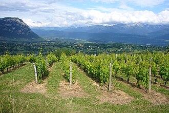 Apremont, Savoie - Image: Vue cluse combe apremont