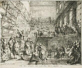Salon (Paris) - Image: Vue du Salon du Louvre en l'annee 1753 LACMA AC1998.27.1