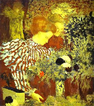 Édouard Vuillard - Le corsage rayé, 1895, National Gallery of Art, Washington D.C., Collection of Mr. and Mrs. Paul Mellon (1983.1.38).