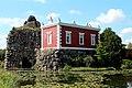 Wörlitzer Park, Der Stein und die Villa Hamilton.JPG