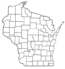 Location of Ironton, Wisconsin