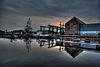 foto van Gebouw 51 (object N): scheepmakerswerplaats met scheepshelling