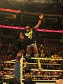 WWE Kofi Kingston doing the Boom Clap (8467519298).jpg