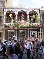 WWOZ 30th Birthday Parade Reindeer Balcony.JPG