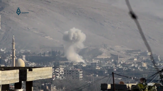 Wadi Barada offensive (2016–17) - The Syrian Air Force launches an airstrike on a village in Wadi Barada.