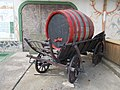 Wagon with a wine barrel in Egregy, 2016 Hungary.jpg