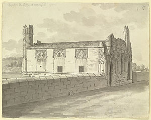 Chantry Chapel of St Mary the Virgin, Wakefield - View of the Chantry Chapel, 1773, by Samuel Hieronymus Grimm