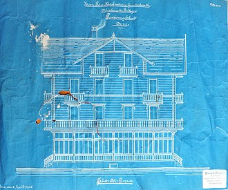 Blueprint - Architectural drawing, 1902