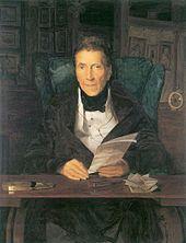 Bildnis des russischen Gesandten am Wiener Hofe Fürst Andreas Rasumowsky, 1835, Öl auf Holz, 39 × 31 cm, Privatbesitz (Quelle: Wikimedia)