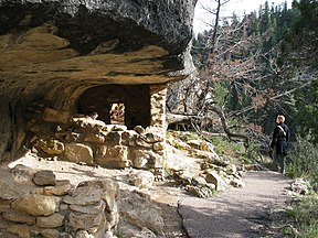 Felsenbehausungen im Walnut Canyon