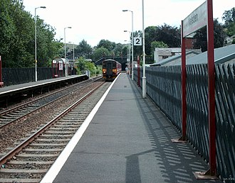 Walsden railway station - The view from platform 2