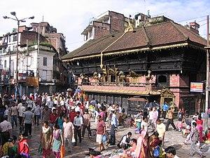 Indrachok, Kathmandu - Temple of Akash Bhairav, Indra Chok