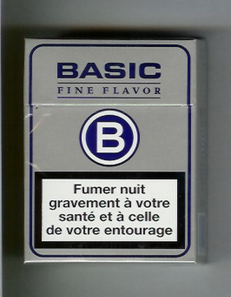Basic (cigarette) - Image: Warning on the French Cigarettes Pack