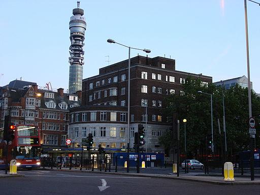 Warren Street Station and BT Tower