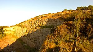Warton Crag - The disused limestone quarry at Warton Crag. Now a nature reserve used by climbers and walkers