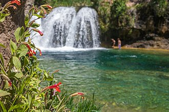 Fossil Creek - Waterfall on Fossil Creek