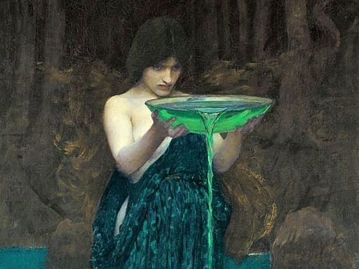 Waterhouse, Circe Invidiosa, detail