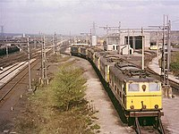 Locomotives in sidings