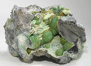 Wavellite Aluminium phosphate basic hydrate mineral