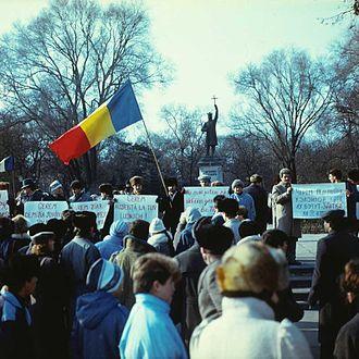 1989 Moldova civil unrest - Image: We demand... (1989). (9214493762)