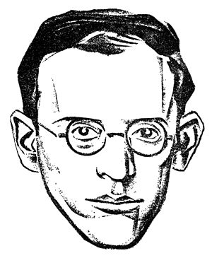 Albert Weisbord - Drawing of Albert Weisbord used in the Communist Press, 1926. Probably drawn by Hugo Gellert.