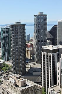 Westin Seattle Twin-tower highrise hotel in Seattle, Washington